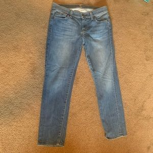 7 for All Mankind crop straight leg jeans size 26